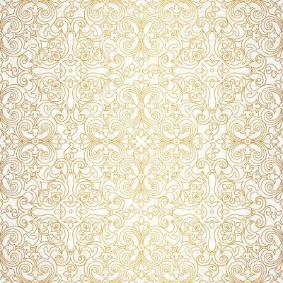 Fototapeta Bezproblémové vzor vektor ve viktoriánském stylu.