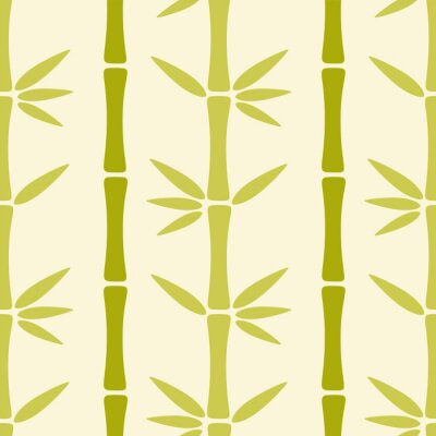 Fototapeta Bezproblémové vzorek s bambusovými stromy
