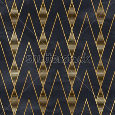 Fototapeta Bezproblémový geometrický vzor na texturu papíru. Art Deco pozadí,