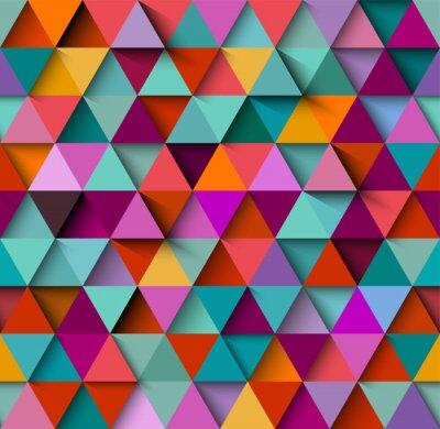 Fototapeta Bezproblémový vzorek pozadí s trojúhelníky a stíny, vektor eps10