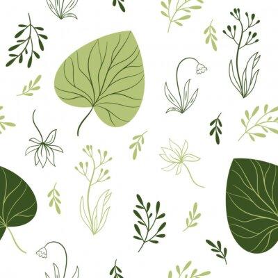 Fototapeta bezproblémový vzorek s květinami, květinovými prvky, designem látky
