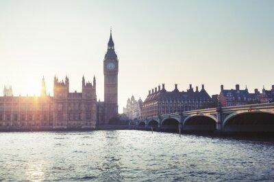Fototapeta Big Ben a Westminster při západu slunce, Londýn, Velká Británie