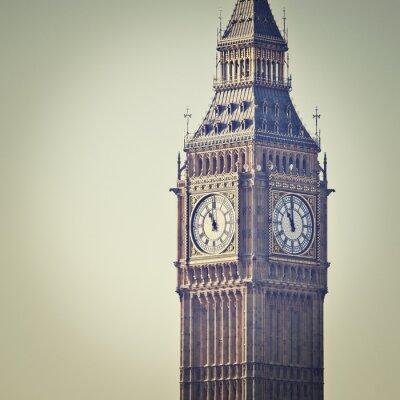 Fototapeta Big Ben v Westminster, Londýn, s efektovým filtrem Instagram