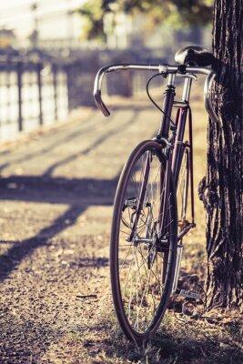 Fototapeta Bike silnice pevným podvozkem kolo
