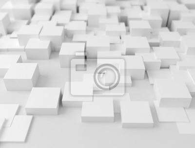 Bílá 3D variace povrchu kostek