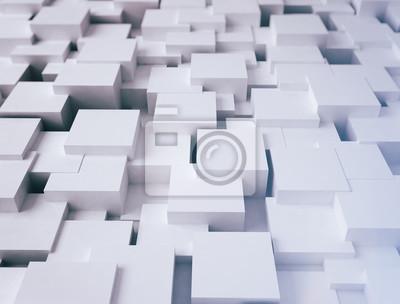 Bílá abstraktní krychle povrchu 3d ilustrace
