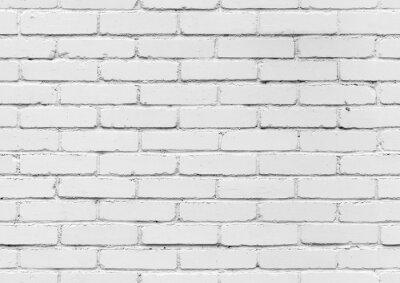 Fototapeta Bílá cihlová zeď, bezešvé pozadí textury