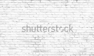 Fototapeta bílá cihlová zeď pozadí ve venkovském pokoji,