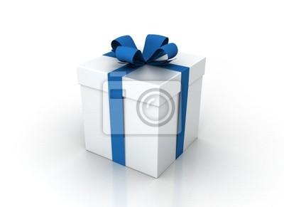 Fototapeta Bílá dárková krabička