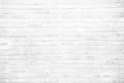 Fototapeta Bílá grunge cihlové zdi textury na pozadí