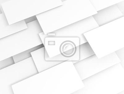 Fototapeta Bílé 3d prázdné sqaures překrývaly