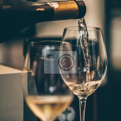 Fototapeta Bílé degustace vína