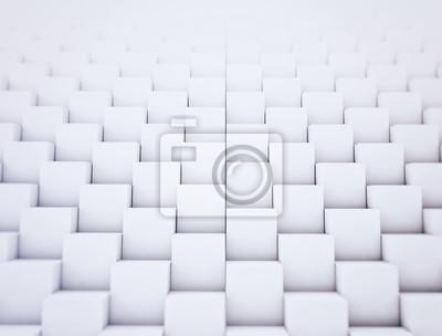 Bílé krabice skládané zdi abstraktní pozadí