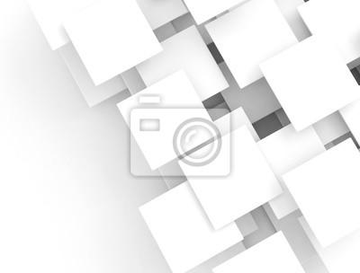 Bílé překrývající prázdné čtverce