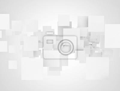Bílé překrývající se prázdné čtverce