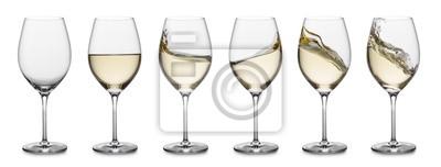 Fototapeta Bílé víno kolekce stříkající vodě