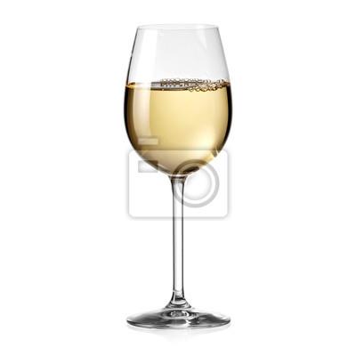 Fototapeta Bílé víno sklo