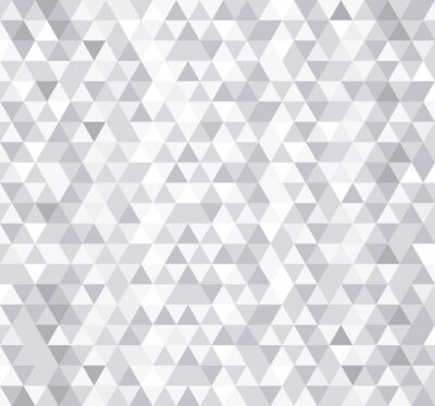 Fototapeta Bílý trojúhelník uspořádá bezproblémové vzorek, vektorové pozadí.