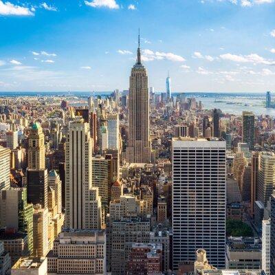 Fototapeta Blick auf Manhatten v New Yorku, USA