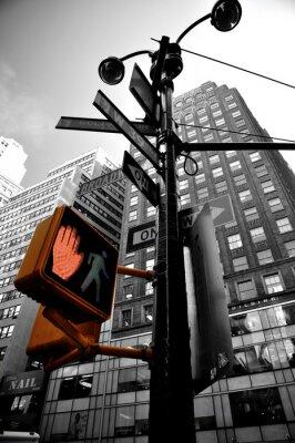 Fototapeta blikající světlo New York boradway