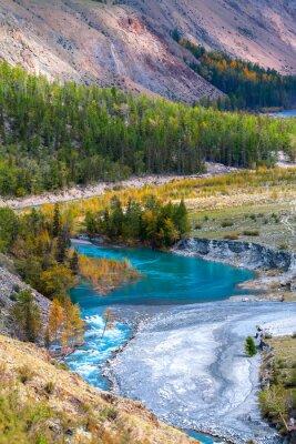 Fototapeta Blue River v horách