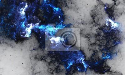 Fototapeta BlueNebula - Digitální abstraktní malbu galaxie s hvězdami ve vesmíru