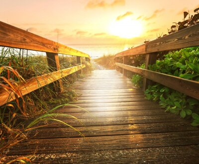 Fototapeta Boardwalk na pláži
