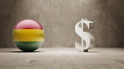 Bolívie. Peníze Sign koncept.