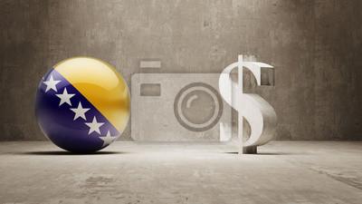 Bosna a Hercegovina. Peníze Sign koncept.
