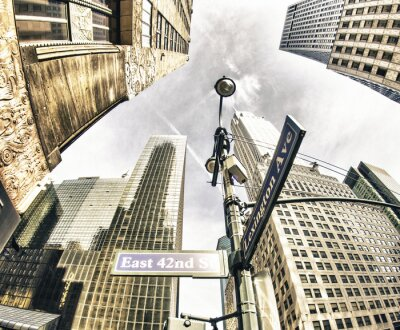 Fototapeta Bottom-Up pohled na New York mrakodrapy