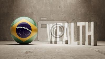 Brazílie. Bohatství Concept.