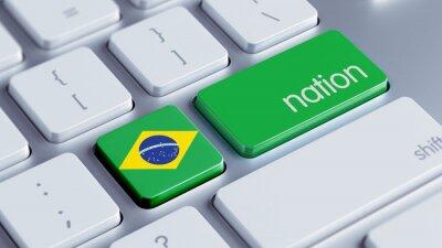Brazílie Nation Concept