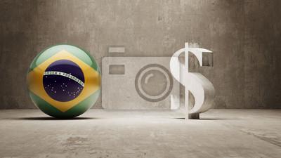 Brazílie. Peníze Sign koncept.