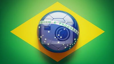 Brazilská vlajka fotbalový míč