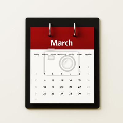 Březen Kalendář Plánování