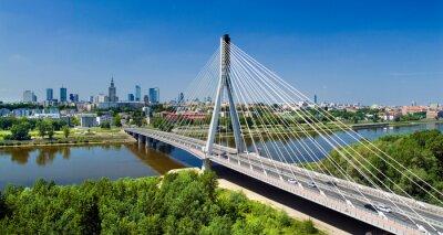 Fototapeta Bridge in Warsaw over Vistula river
