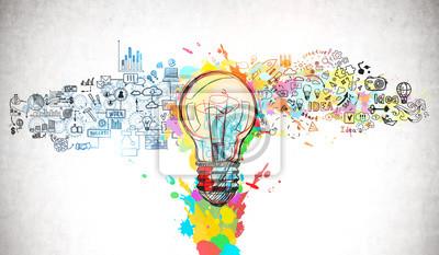 Fototapeta Bright idea and creative thinking