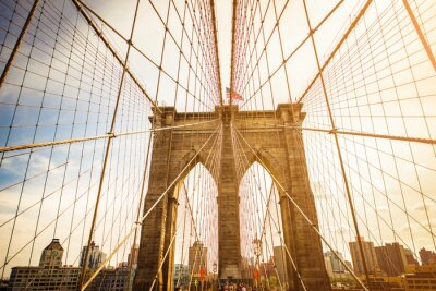 Fototapeta Brooklyn Bridge a Manhattan skyline