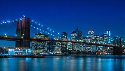 Fototapeta Brooklyn Bridge NYC Skyline