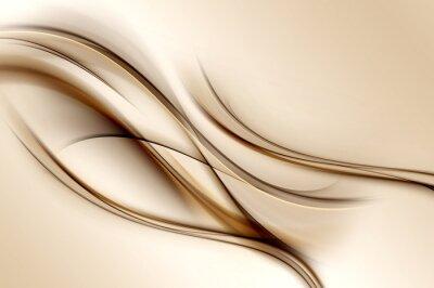 Fototapeta Brown vlny pozadí