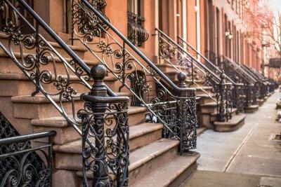 Fototapeta Brownstone Apartmány v okrese Chelsea v New Yorku