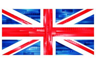 Fototapeta brytyjska flaga Wektor