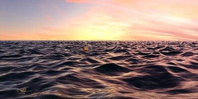 Fototapeta Brzy Sunrise Over Panorama vlny oceánu
