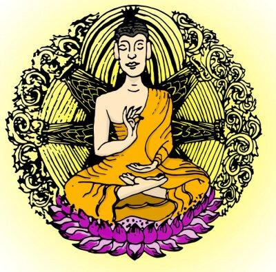 Fototapeta Buddha barvy.