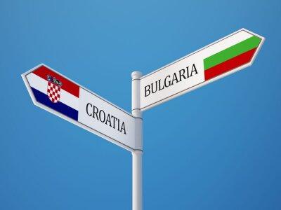 Bulharsko Chorvatsko. Registrujte Vlajky Concept