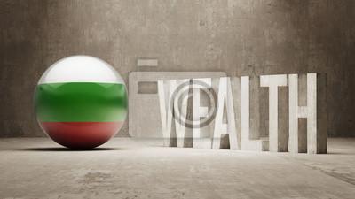 Bulharsku. Bohatství Concept.