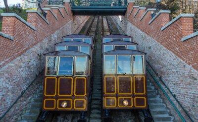 Fototapeta Cable Car na město Castle Hill, Budapest Maďarsko.