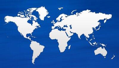 Fototapeta carte du monde