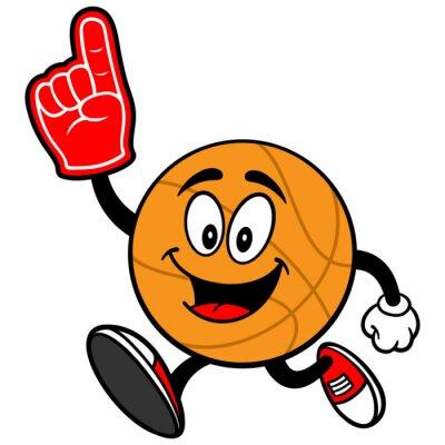 Fototapeta Cartoon Basketbal Běh s prstu pěny