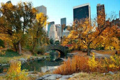Fototapeta Central Park podzim a budovy v centru Manhattanu v New Yorku